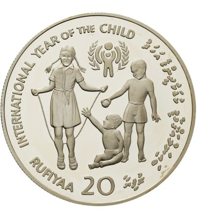 Malediwy 20 rufiyaa 1979 - międzynarodowy rok dziecka