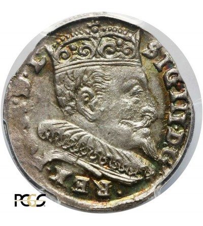Trojak (3 Grosze) 1594, Vilnius mint  PCGS MS 63