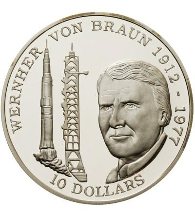 Niue 10 dolarów 1992 -  Wernher Von Braun