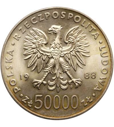 Poland 50000 Zlotych 1988, Jozef Pilsudski