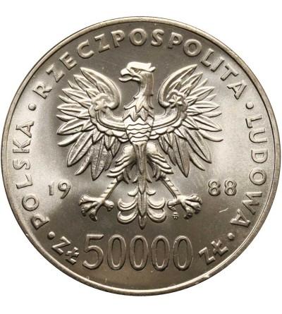 Polska 50000 złotych 1988, Józef Piłsudski