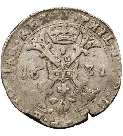 Niderlandy Hiszpańskie. Talar (Patagon) 1631, mennica Tournai (Doornik)