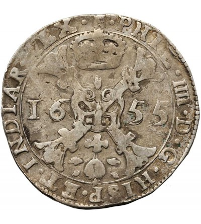 Niderlandy Hiszpańskie. Talar (Patagon) 1655, mennica Tournai (Doornik)