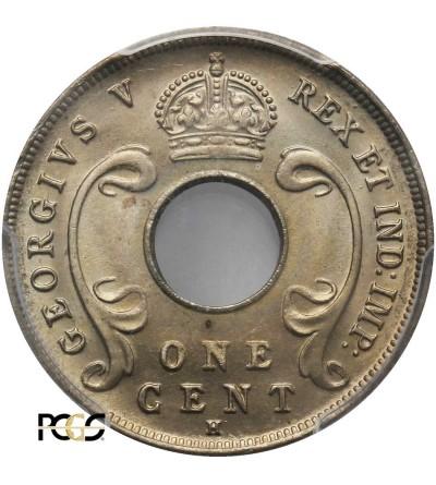 Afryka Wschodnia & Protektorat Ugandy 1 cent 1916 H - PCGS MS 66