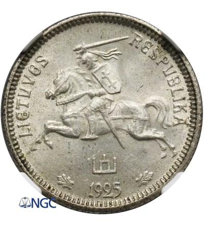 Lithuania 1 Litas 1925 - NGC MS 64, Mare Variety