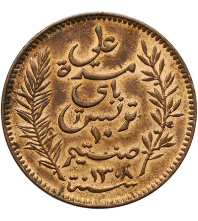 Tunezja 10 Centimes 1891 A