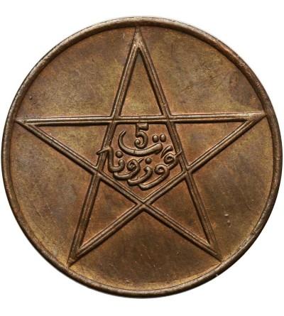 Maroko 5 Mazunas AH 1340 / 1921 AD, Pa Paryż