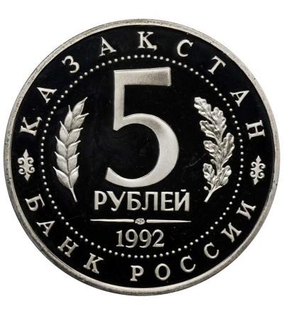 Rosja 5 rubli 1992, Meczet Achmed Jasawi Turkmenistan - Proof