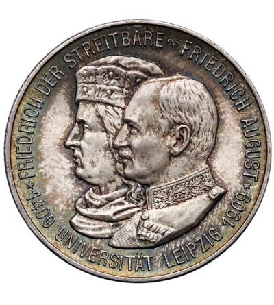 Niemcy - Saksonia 2 marki 1909, Uniwersytet w Lipsku