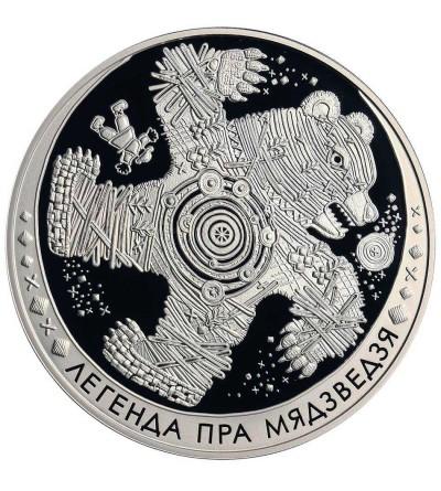 Białoruś 20 rubli 2012, legenda o niedźwiedziu - Proof