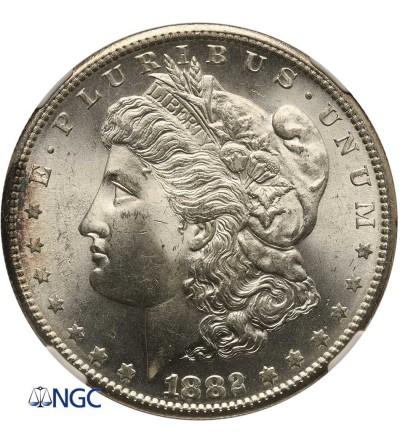 USA Morgan Dollar 1882 S, San Francisco - NGC MS 64