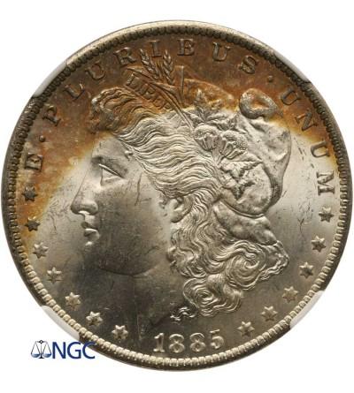 USA Morgan Dolar 1885 O, Nowy Orlean - NGC MS 64