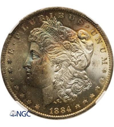 USA Morgan Dollar 1884 O, New Orleans - NGC MS 64