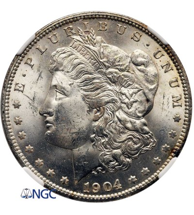 USA Morgan Dollar 1904 O, New Orleans - NGC MS 63