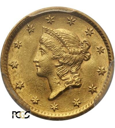 USA 1 dolar 1854, Liberty Head - PCGS AU 58
