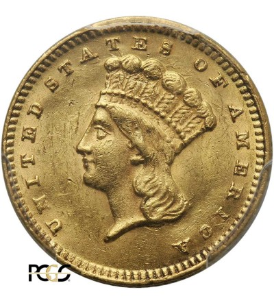 USA 1 dolar 1874, Indian Head - PCGS AU 58