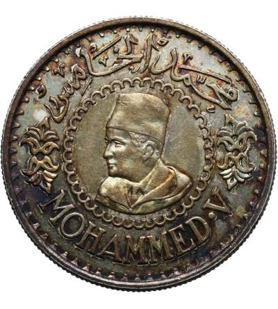 Maroko 500 franków AH 1376 / 1956 AD, Mohammed V