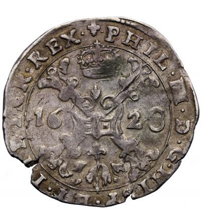 Niderlandy Hiszpańskie 1/4 Patagona 1628, Flandria, mennica Brugia, Filip IV