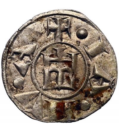 Włochy - Genua Republika. Denar bez daty (1139-1339 AD)