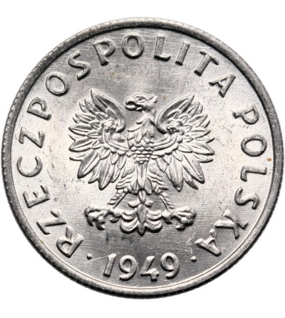 Poland 5 Groszy 1949, Aluminium