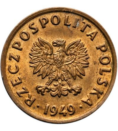 Polska 5 groszy 1949, brąz