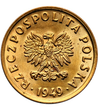Poland 5 Groszy 1949, Bronze