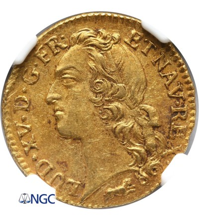 Francja 1 Louis d'or 1768 R, Orleans - NGC MS 62