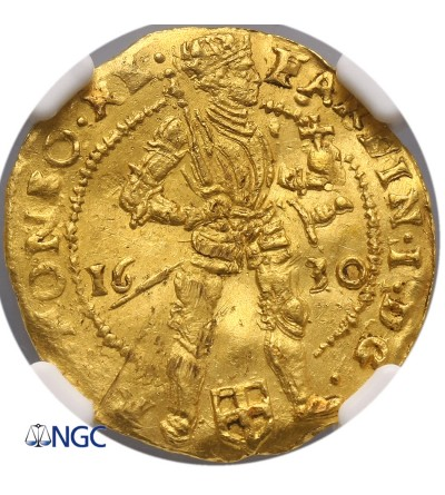 Netherlands. Ducat 1630, Zwolle, with name Fardin I - NGC UNC Details