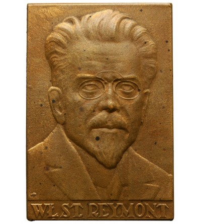 Poland. Plaque of the National State Mint, plaque Wladyslaw Reymont