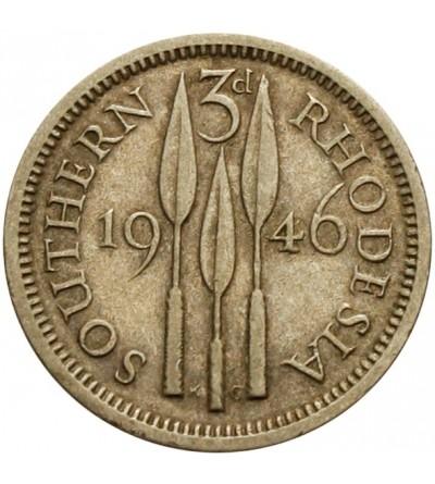 Rodezja Południowa 3 pensy 1946