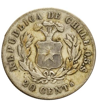Chile 20 centavos 1881