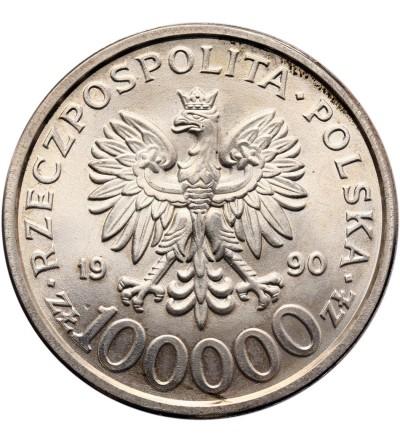 Polska 100000 złotych 1990, Solidarność - typ B, bez litery L