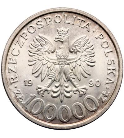 Poland 100000 złotych 1990, Solidarność - typ B, bez litery L
