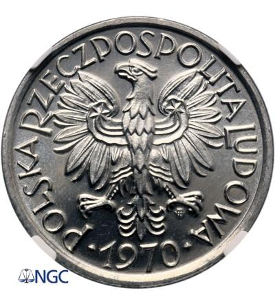 Polska 2 złote 1970, jagody - NGC MS 66 PL (Proooflike)