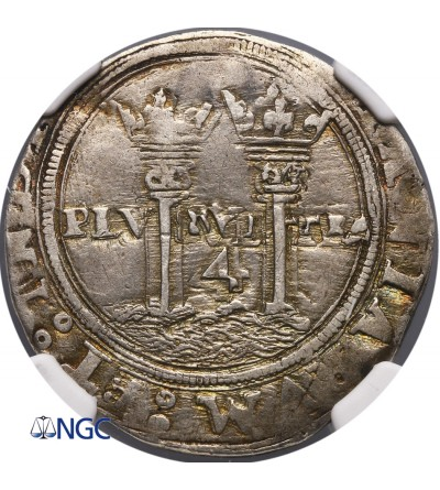 Meksyk 4 Reale bez daty (1542-1555) ML - NGC Clipped