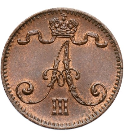 Finlandia 1 Penni 1883, Aleksander III