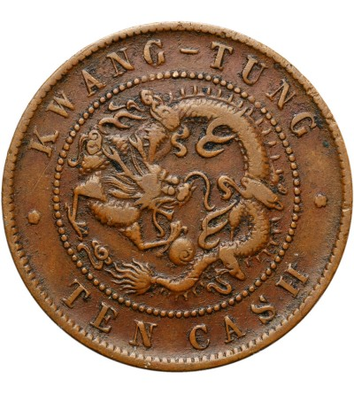 Chiny Kwangtung 10 cash bez daty (1900-1906)