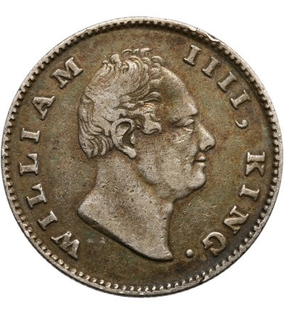 India British 1/2 Rupee 1835 F (Raised)