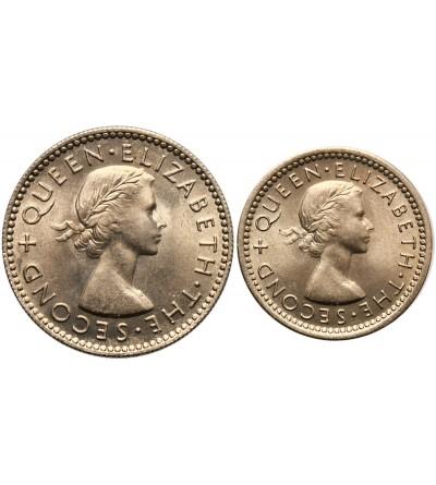 Rodezja & Nyasaland 3 i 6 pensów 1955