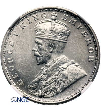 Indie Brytyjskie 1 rupia 1913 (B) - NGC AU 58