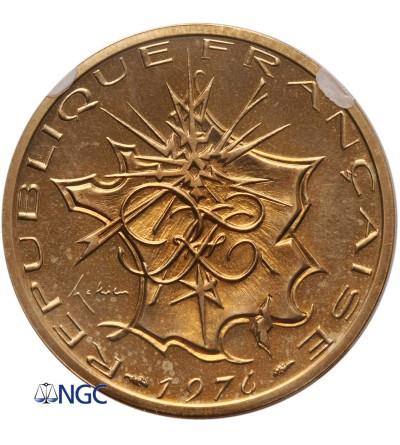 Francja 10 franków 1976, Piefort - NGC PF 66