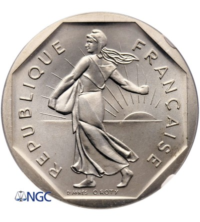 Francja 2 franki 1979, Piefort - NGC PF 67