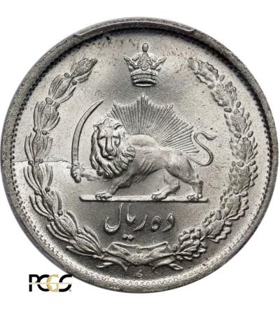 Iran 10 Rials SH 1323 / 1944 AD - PCGS MS 66+