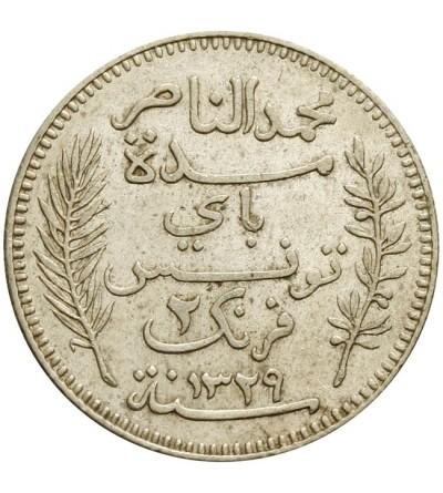 Tunezja 2 franki 1911 / 1329 AH
