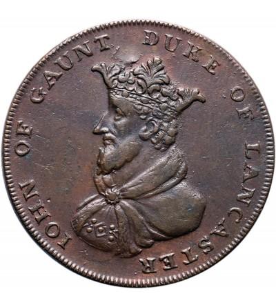 Wielka Brytania. Lancashire, Lancaster, John of Gaunt. 1/2 Penny Token 1794
