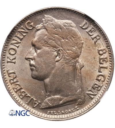 Kongo Belgijskie 50 Centimes 1926, BELGISCH CONGO - NGC MS 63