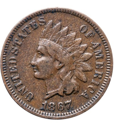 USA 1 cent 1867, Indian Head
