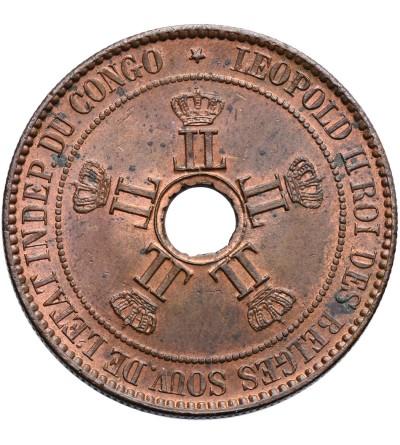 Kongo Belgijskie 10 Centimes 1888 LW