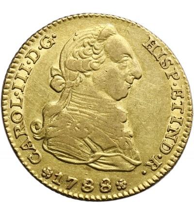 Hiszpania 2 Escudos 1788 M, Madryt