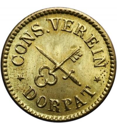 Rosja (Estonia) Dorpat (Tartu) 3 Marki 1866 / Cons. Verain Dorpat / 3 Marke MDCCCLXVI